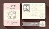 Vintage Visa Passport Wedding Invitation