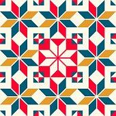 Vintage wall tiles pattern