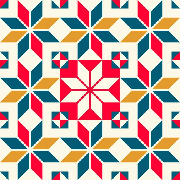 ilustrações, clipart, desenhos animados e ícones de padrão de azulejos de parede vintage - christmas pattern