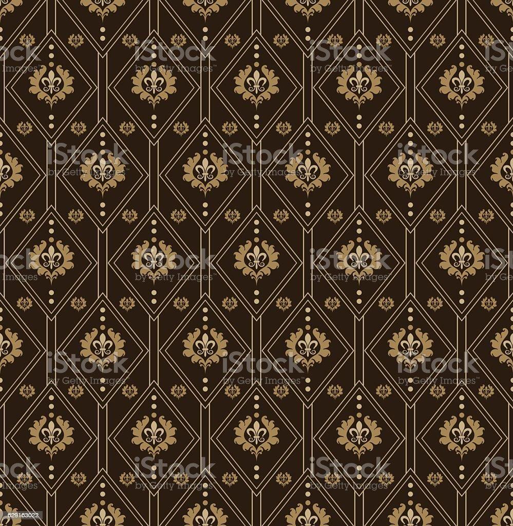 Vintage Wallpaper Dark Vector Illustration Stock Illustration Download Image Now Istock