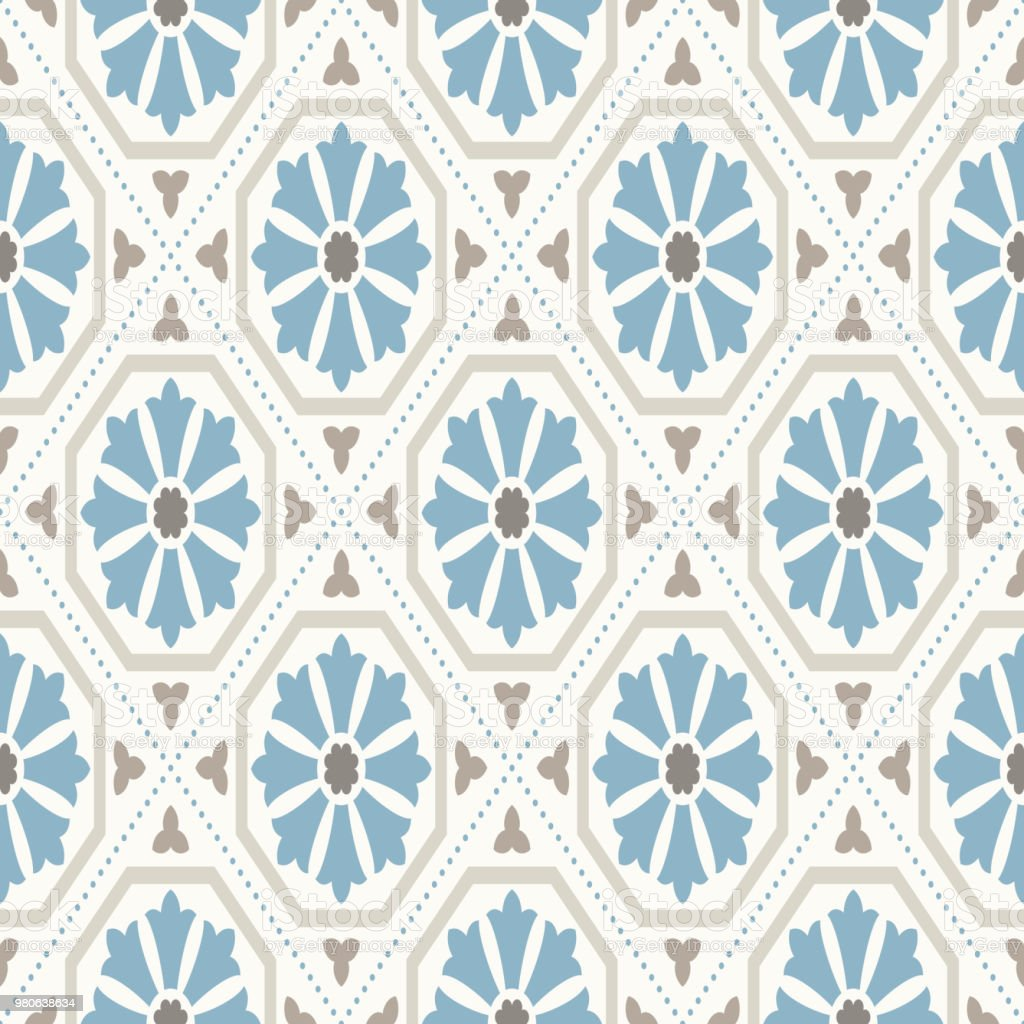 Vintage Wallpaper Modern Geometric Pattern Inspired By Old