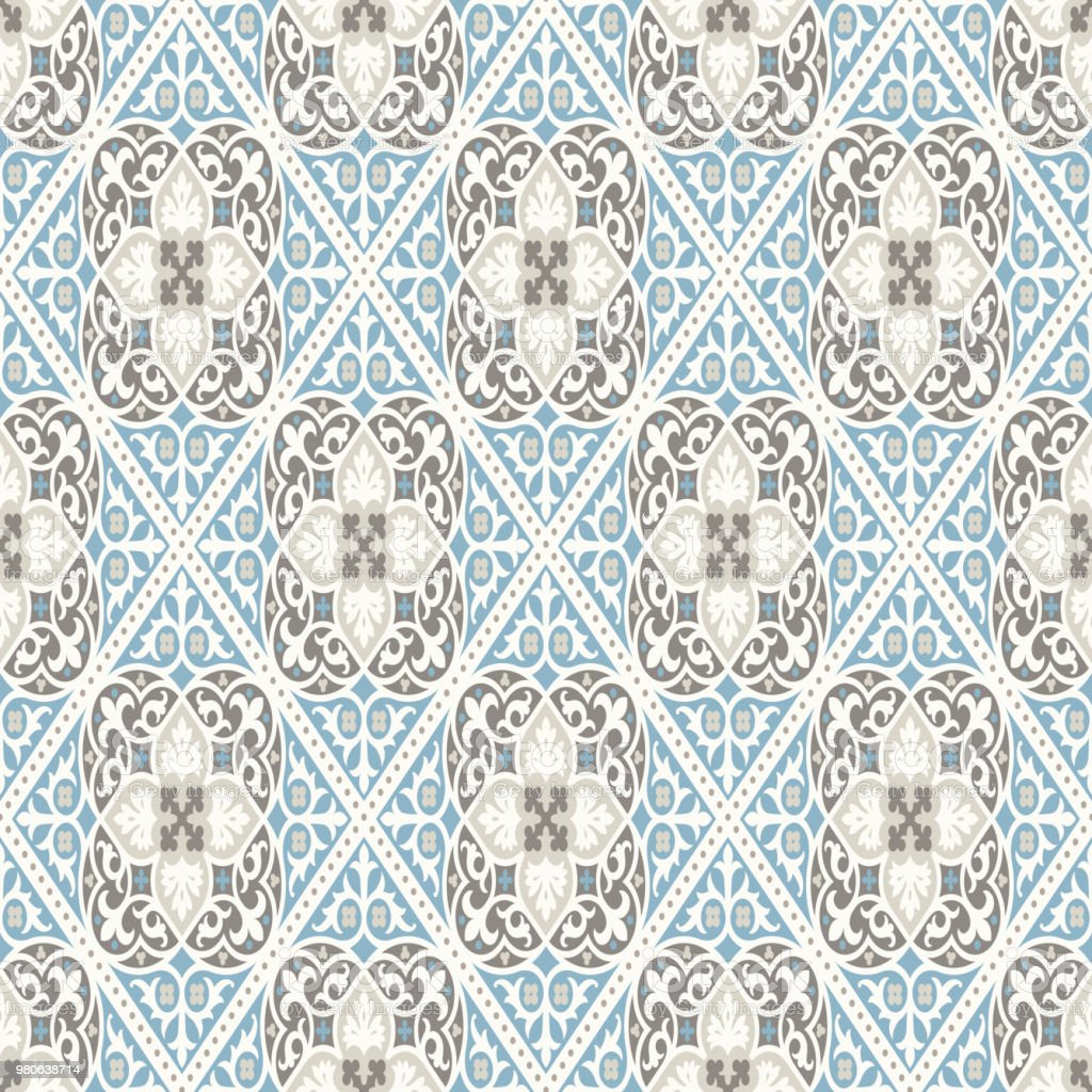 Vintage Wallpaper Modern Geometric Pattern Inspired By Old Wallpapers Nice Retro Colors