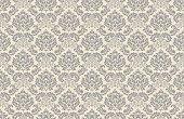 Seamless vintage wallpaper pattern. Vector image.