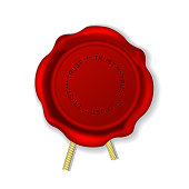 Vintage wax seal with rope - sealing wax stamp