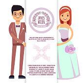 istock Vintage wedding flyer, poster, banner template 1251278806