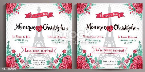 ᐈ Imagen De Vintage Invitación De Boda Tarjeta Floral