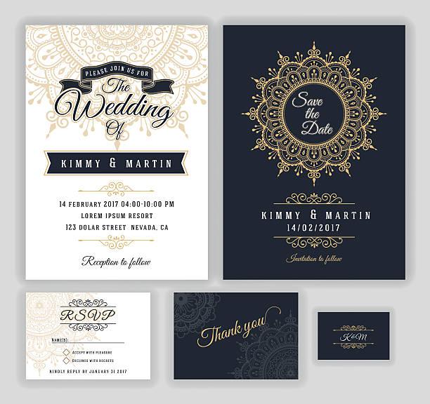 vintage wedding invitation mehndi mandala design - ウェディングファッション点のイラスト素材/クリップアート素材/マンガ素材/アイコン素材