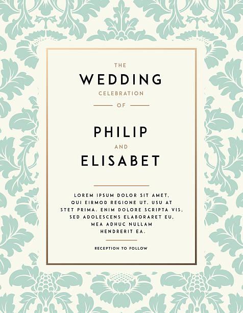 Vintage Wedding Invitation template – Vektorgrafik