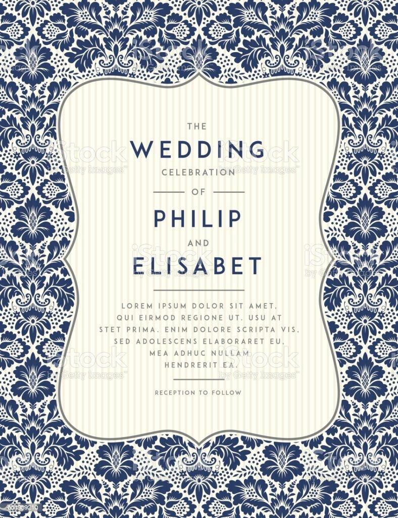 Klassisch Hochzeit Einladung Vorlage Lizenzfreies Klassisch Hochzeit  Einladung Vorlage Stock Vektor Art Und Mehr Bilder Von
