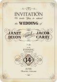 invitation on vintage background.