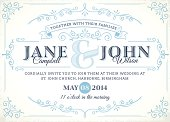 Vintage wedding invitation. EPS 10. Nicely grouped and layered.