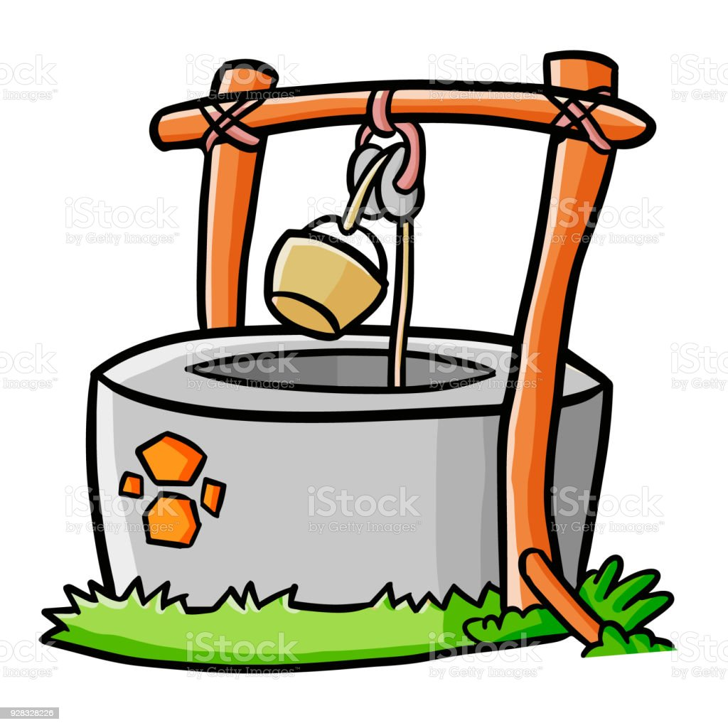 royalty free background of a wooden well bucket clip art vector rh istockphoto com get well clipart animated get well clip art free