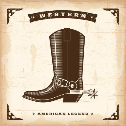 Vintage Western Cowboy Boot