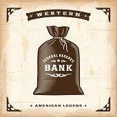 Vintage Western Money Bag