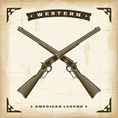 istock Vintage Western Rifles 1066658532