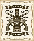 Vintage Western Saloon Label Graphics