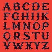 Vector font for historical labels, posters etc.