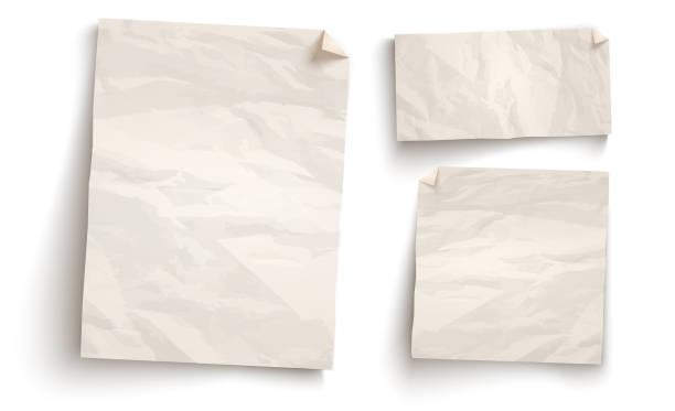 винтажная белая бумага. - письмо документ stock illustrations