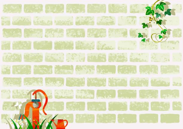 ilustrações de stock, clip art, desenhos animados e ícones de vintage white wall background image - ivy building