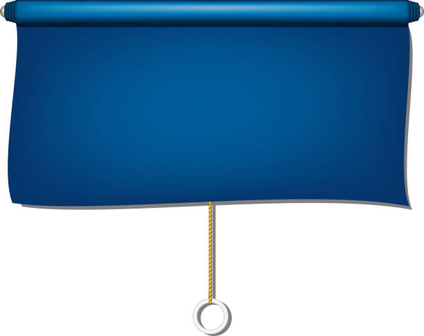 vintage-fenster-blind stoff in blau - stoffrollos stock-grafiken, -clipart, -cartoons und -symbole