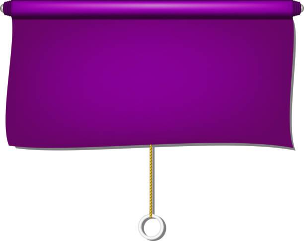 vintage fenster sonne blinden tuch in lila design - stoffrollos stock-grafiken, -clipart, -cartoons und -symbole