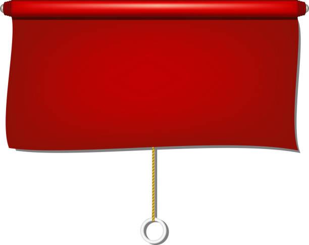vintage-fenster sonne blind tuch in rotes design - stoffrollos stock-grafiken, -clipart, -cartoons und -symbole