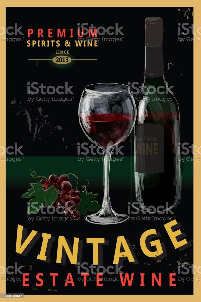 Vintage Wine poster design royalty-free stock vector art