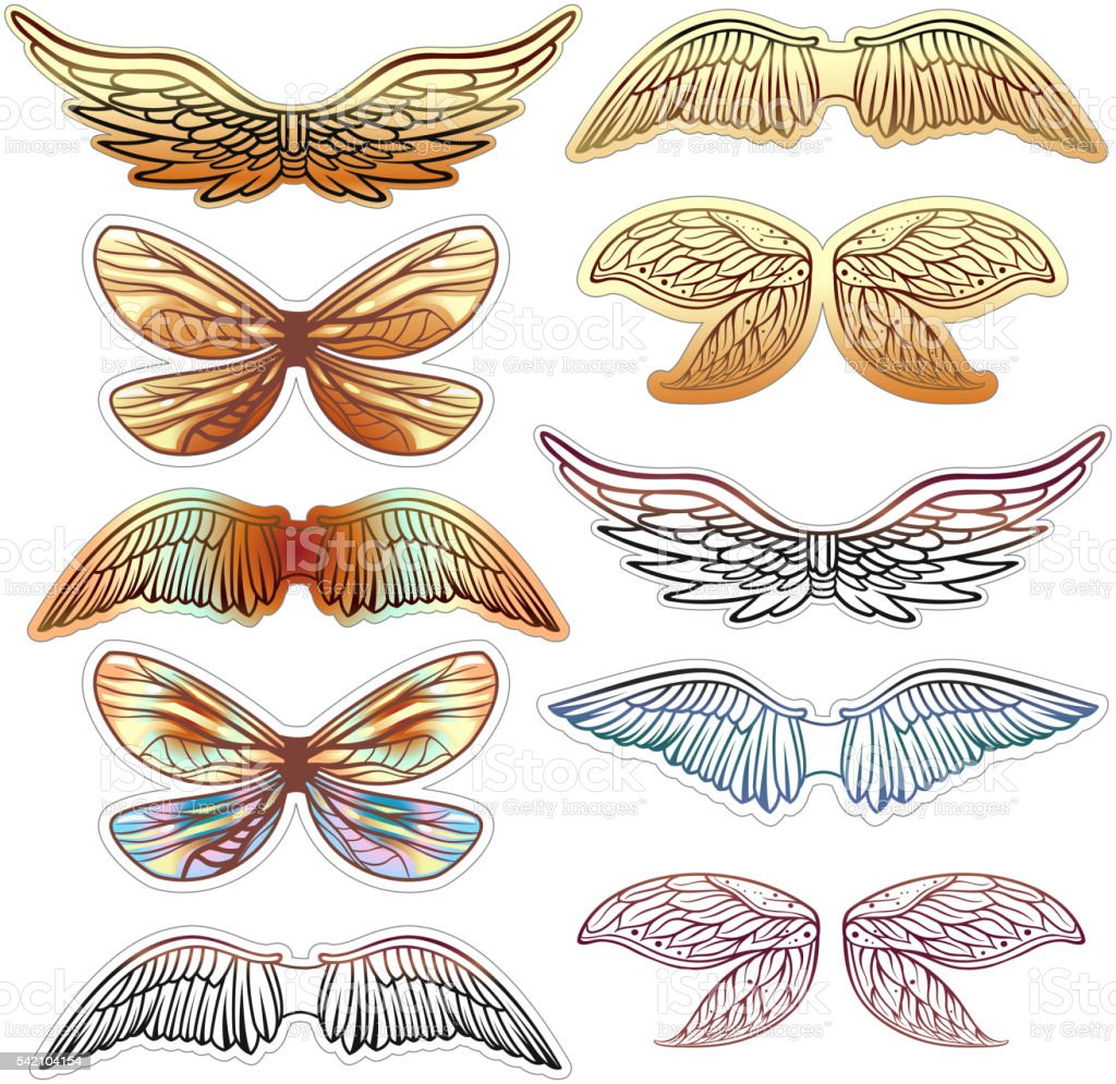 Vintage Wings royalty-free vintage wings stock illustration - download image now