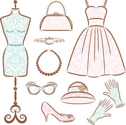 Vintage Women's Clothes Set