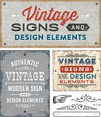 Vintage Wooden and Metal Signs