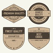 Vintage Wooden Labels