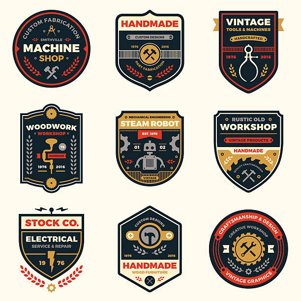 Atelier de badges Vintage - Illustration vectorielle