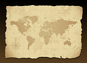 Vintage world map