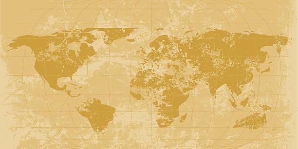 Vintage Welt Karte – Vektorgrafik