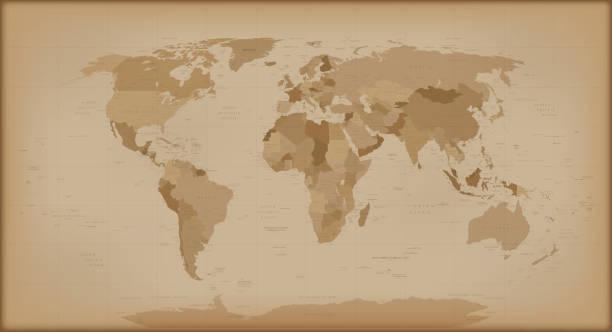 Vectores de world map vintage y illustraciones libre de derechos mapa del mundo vintage ilustracin de arte vectorial gumiabroncs Images