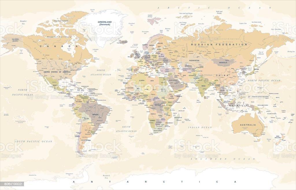 Carte Vintage - Illustration vectorielle - Illustration vectorielle