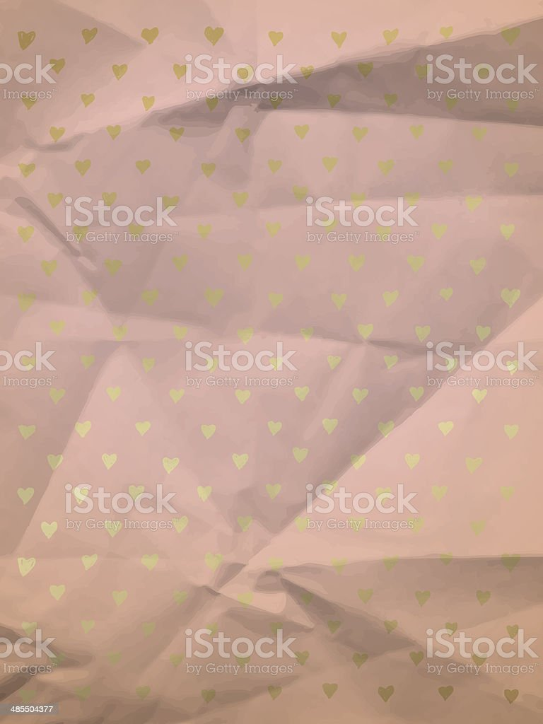 Vintage wrapping paper with hearts royalty-free stock vector art