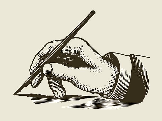 Écrit à la main dans un style vintage gravé - Illustration vectorielle