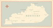 Vintage-Style Kentucky Map