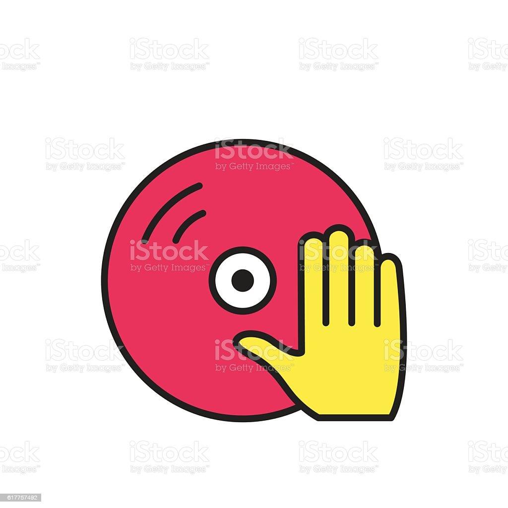 Vinyl and dj hand icon.  Vector symbol. vector art illustration
