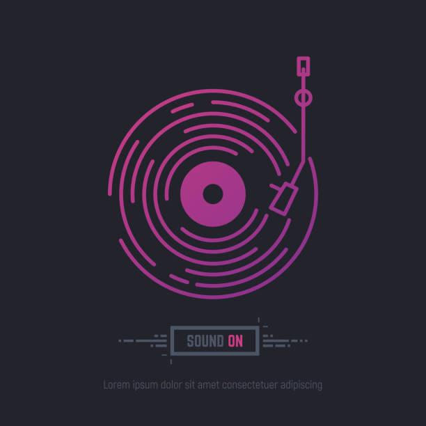ilustrações, clipart, desenhos animados e ícones de registro do disco de vinil - toca discos