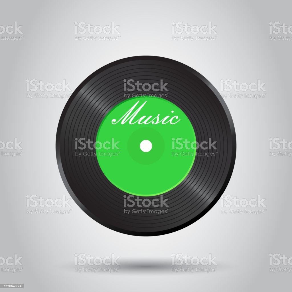 Ilustración de Disco De Vinilo Ilustración De Vector De Música Disco ...