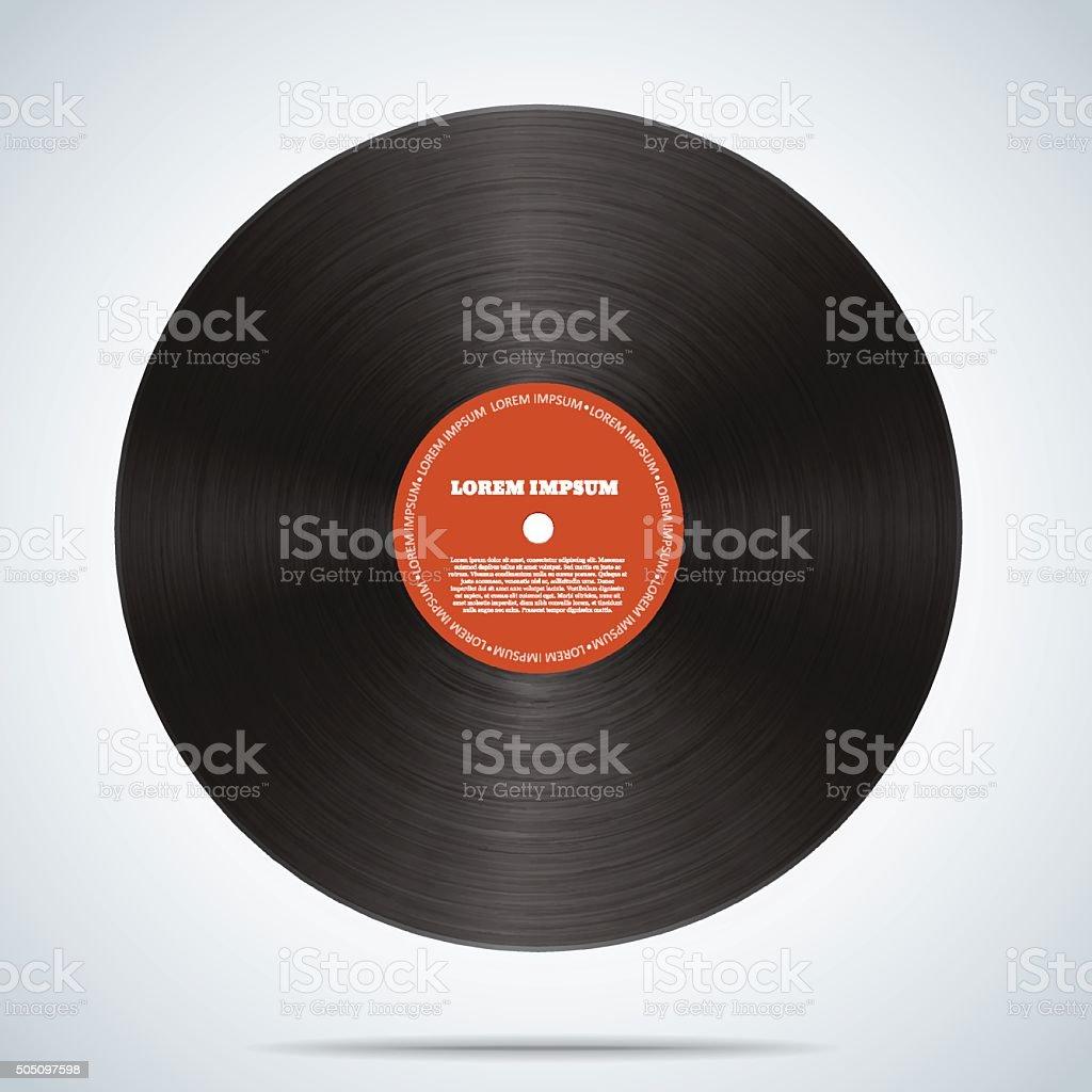 Vinyl disk realistic design eps 10 vector art illustration