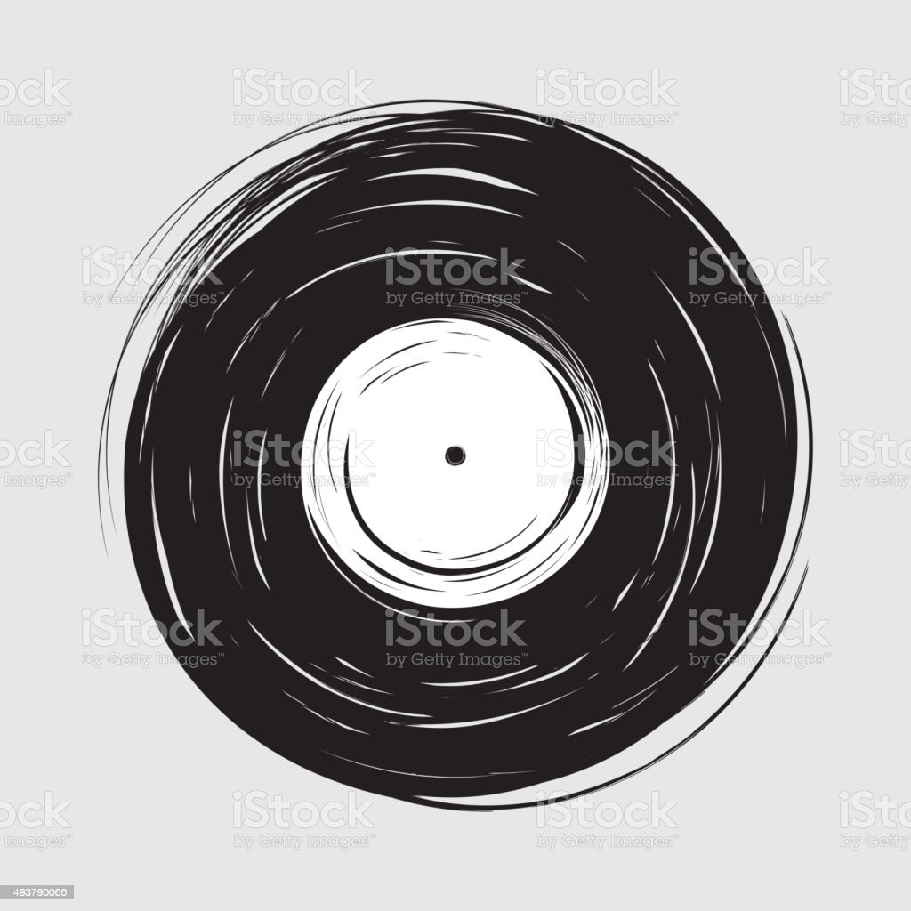 Vinyl draw painting vector art illustration