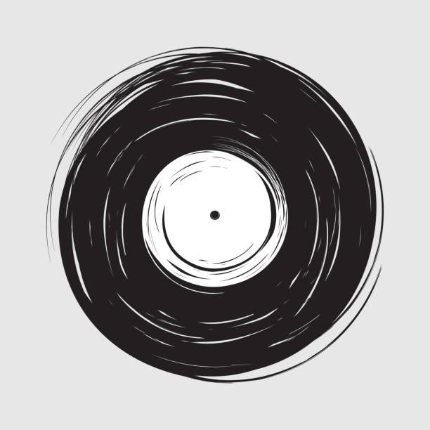 vinyl zeichnen malen - schallplatte stock-grafiken, -clipart, -cartoons und -symbole
