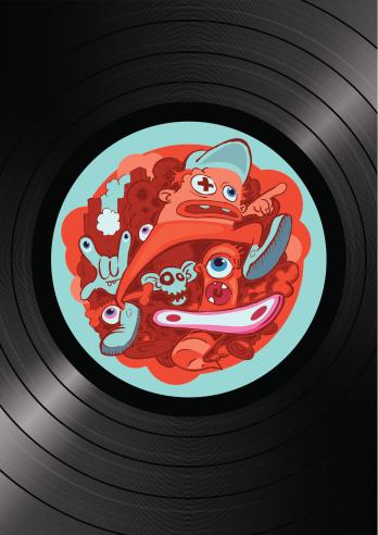 vinyl hip-hop turntable