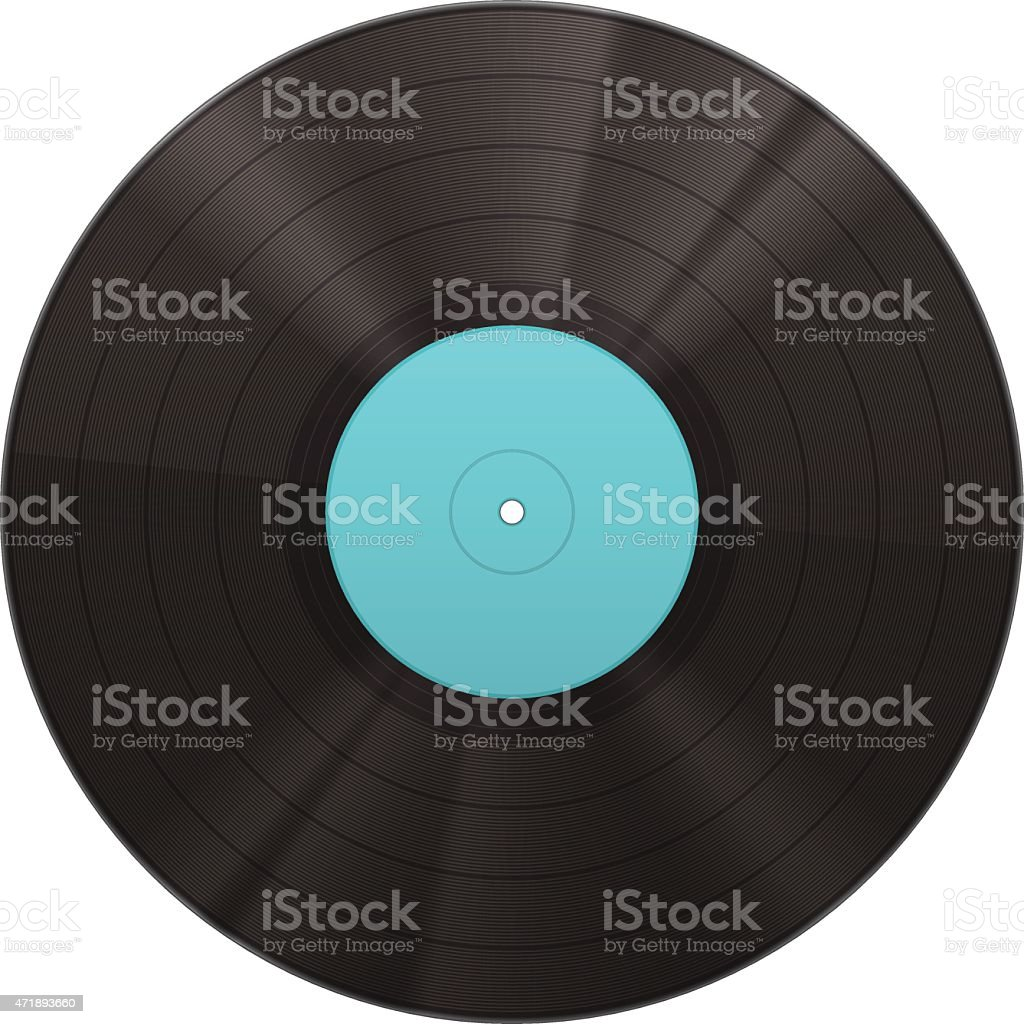 Vinyl music disk vector art illustration