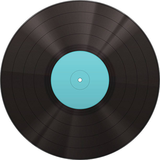 vinyl music disk - record analog audio stock illustrations