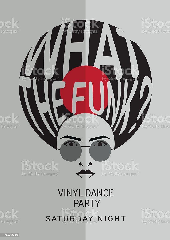 Vinyl party poster. vector art illustration