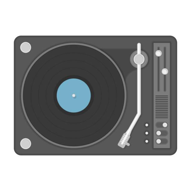 ilustrações, clipart, desenhos animados e ícones de ilustração de jogador de vinil. - toca discos